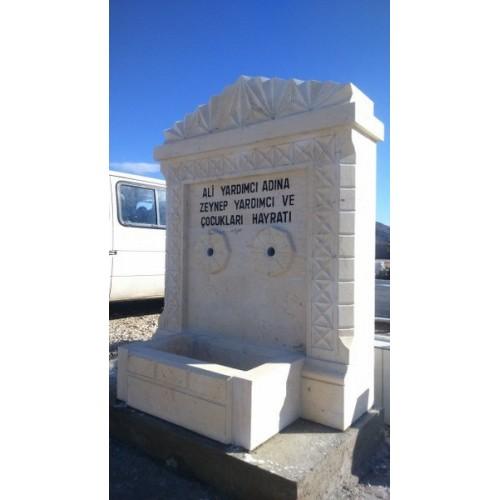 Yeni Mezarlık Ceyhan Kalem işli çeşme