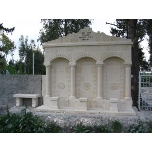 Dört Sütunlu Çeşme Tatlı Kuyu Mezarlığı Ceyhan