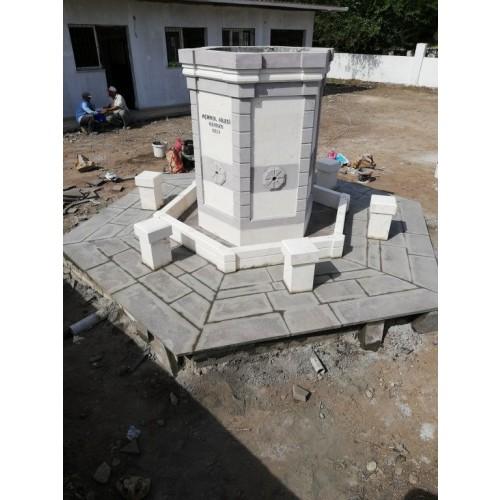 Altıgen çeşme yapımı Toprakkale