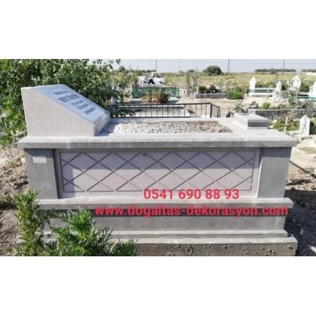 bazalt ve kayseri taşı basamaklı mezar